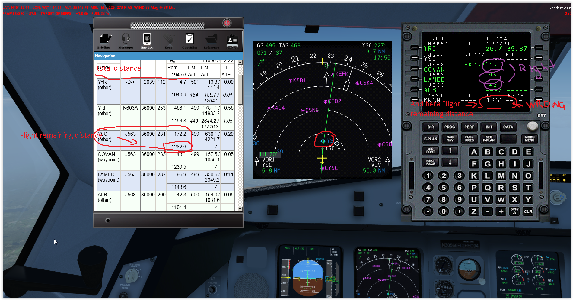 Autopilot landing code and Length of journey  - BLACKBOX
